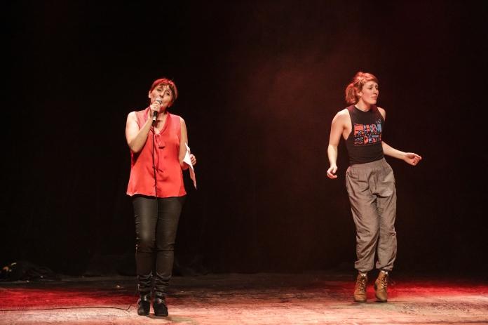Fabienne Cabado et Lucy M. May. Photo: Sylvain Légaré, gracieuseté du Regroupement québécois de la danse